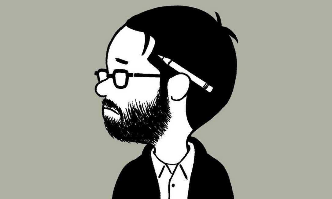 Autorretrato do quadrinista americano Adrien Tomine Foto: Reprodução