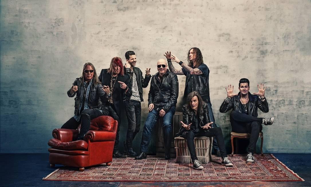 A banda alemã Helloween Foto: FRANZ SCHEPERS / Divulgação