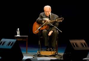 João Gilberto em 2008 no Teatro Municipal do Rio Foto: Ari Versiani / AFP