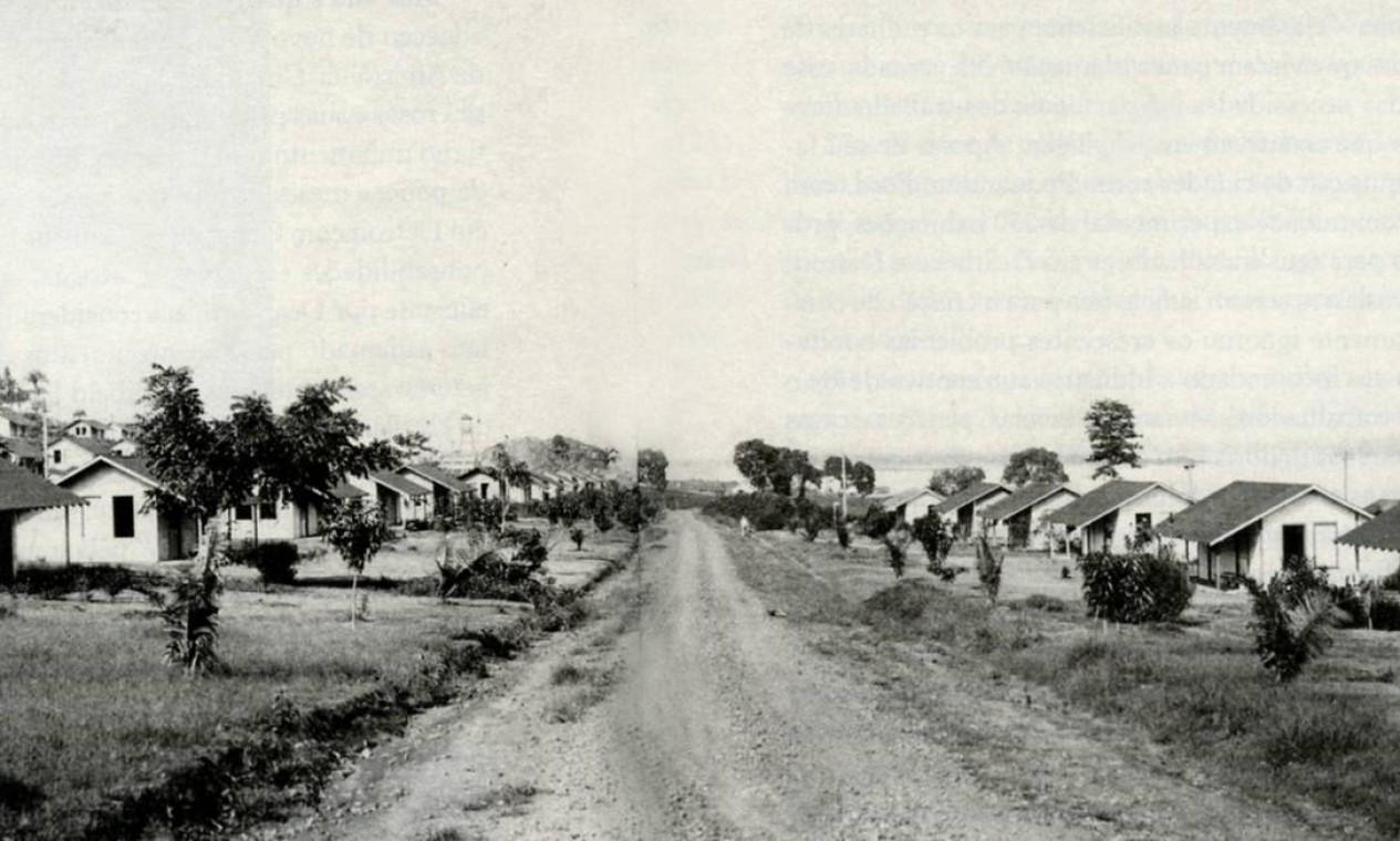 A vila operária em Fordlândia Foto: Reprodução