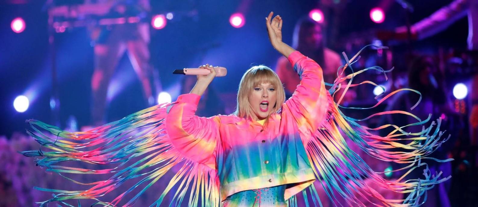 Taylor Swift no iHeartRadio, na Califórnia Foto: Mario Anzuoni/File Photo/REUTERS