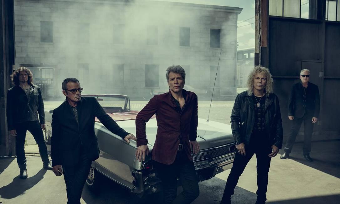 O grupo americano Bon Jovi Foto: Divulgação