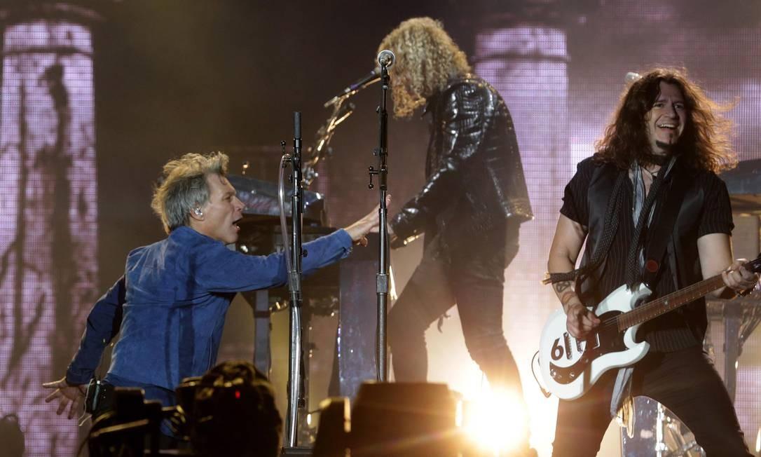 O grupo Bon Jovi no Rock in Rio de 2017 Foto: Márcio Alves / Agência O Globo