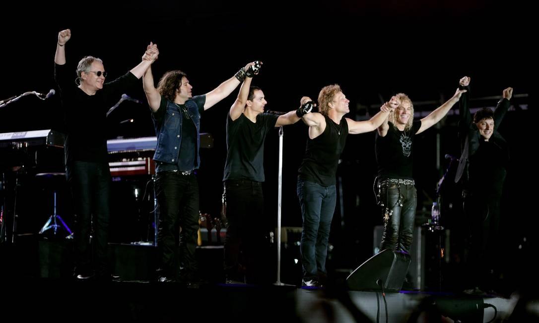 O grupo Bon Jovi no Rock in Rio de 2013 Foto: Marcelo Theobald / Infoglobo