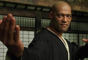 Lawrence Fishburne em cena de 'Matrix' Foto: DIVULGAÇÃO