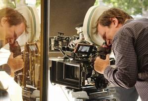 Quentin Tarantino no set de 'Era uma vez em Hollywood' Foto: Divulgação
