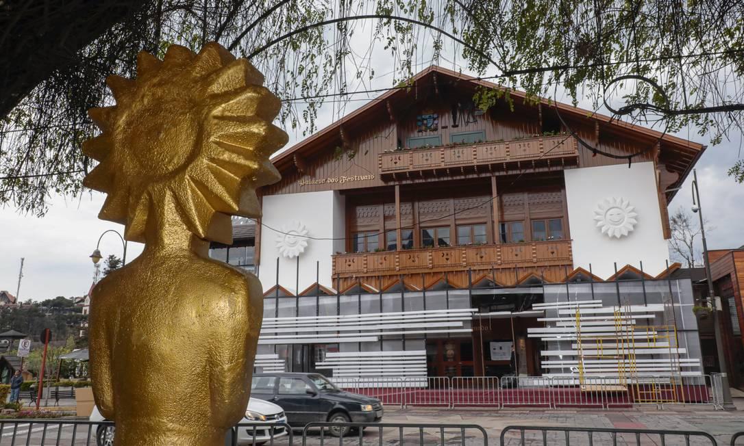Palácio dos Festivais, onde acontecem as sessões de Gramado Foto: CLEITON THIELE / Divulgação