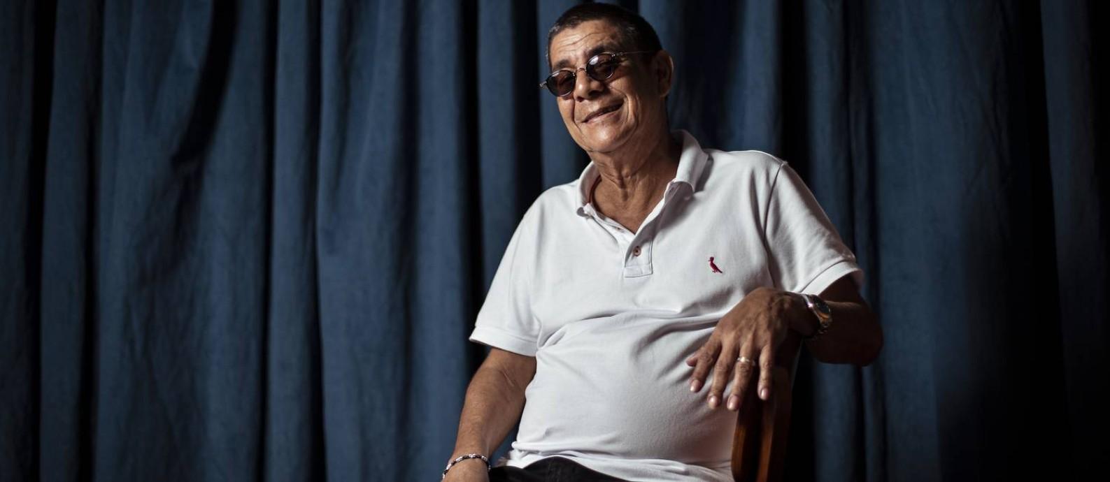 """Zeca Pagodinho lança o disco """"Mais Feliz"""" Foto: Hermes de Paula / Agência O Globo"""