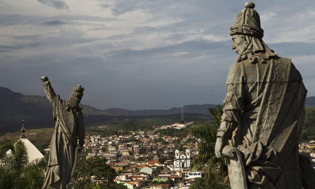 Legado escultório de Aleijadinho, o Santuário do Bom Jesus de Matosinhos, em Congonhas (MG), é um dos patrimônios tombados pelo Iphan Foto: Guito Moreto