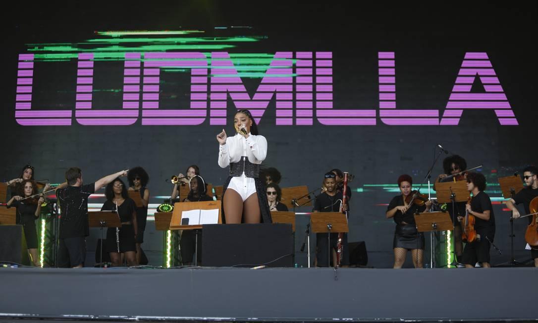No palco, a funkeira deu show com suas coreografias Foto: Brenno Carvalho/Agência O Globo