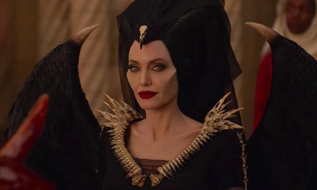 """Angelina Jolie em cena do filme """"Malévola: Dona do mal"""" Foto: Dvulgação"""