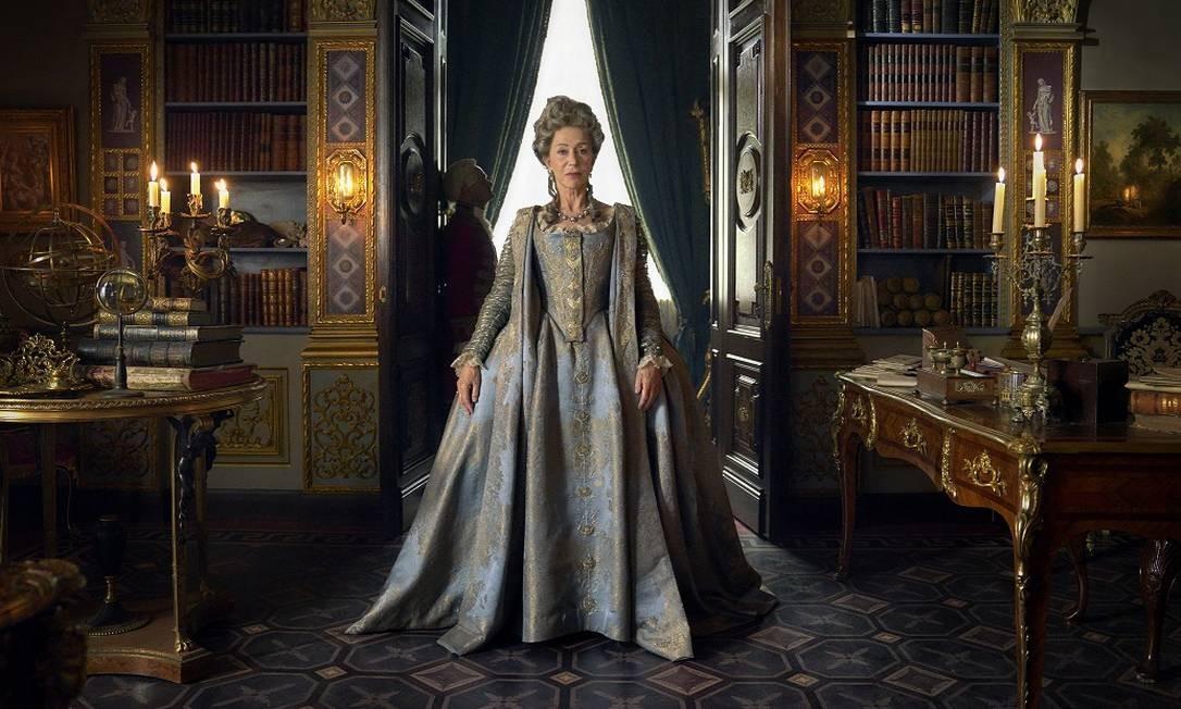 """Helen Mirren na série """"Catarina, a Grande"""", série da HBO Foto: Divulgação/HBO/Hal Shinnie"""
