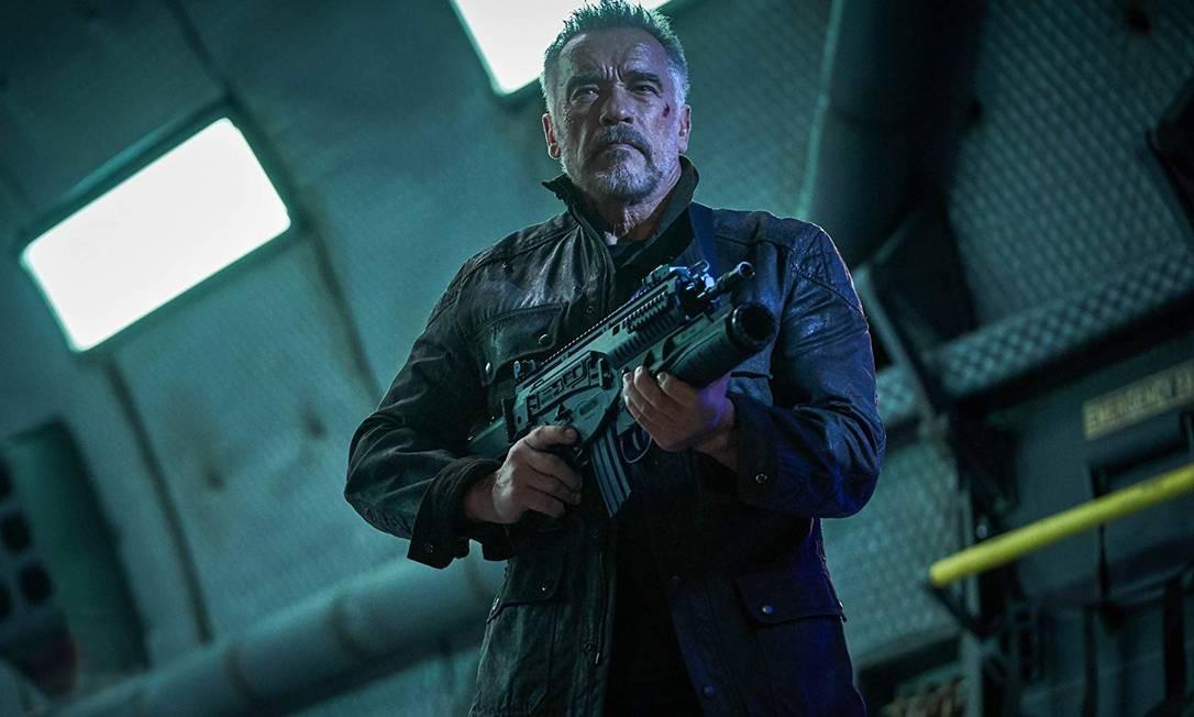 Arnold Schwarzenegger em 'Exterminador do futuro: Destino sombrio' Foto: Divulgação