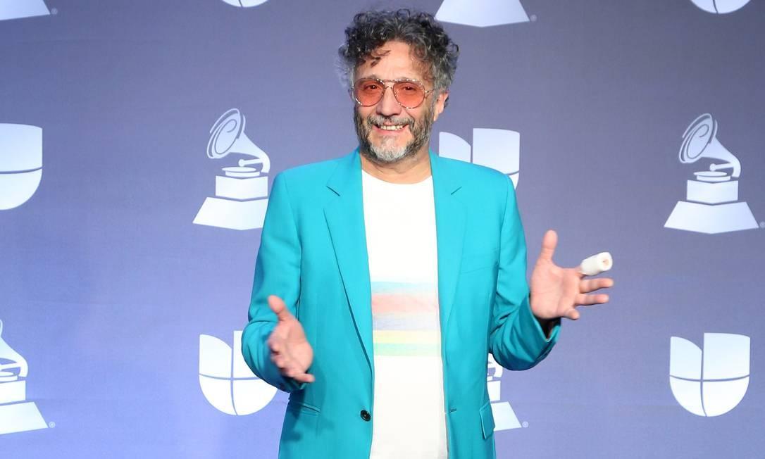 O compositor argentino Fito Páez na festa do Grammy Latino, em Las Vegas Foto: Getty Images for LARAS