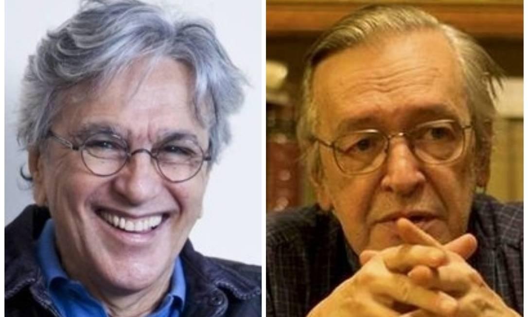 Caetano Veloso e Olavo de Carvalho: embates judiciais já duram mais de dois anos Foto: Monica Imbuzeiro/Divulgação
