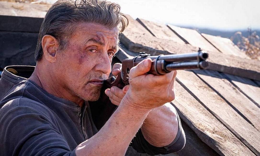 Filme - Rambo, até o fim Foto: Sylvester Stallone em cena de 'Rambo: Até o fim': filme concorre a nove indicações do Framboesa de Ouro / Divulgação