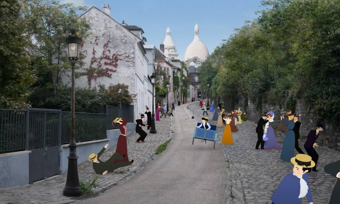 """Cenas da animação """"Dilili em Paris"""", de Michel Ocelot, que reproduz a Paris da Belle Époque Foto: Divulgação"""
