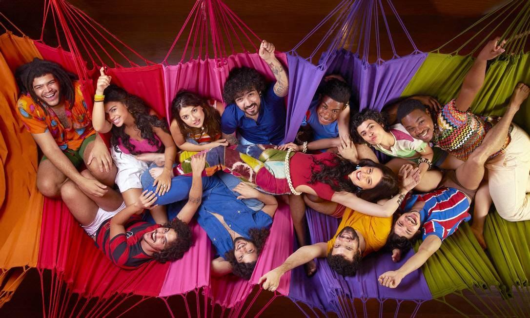 """Elenco do musical """"Novos Baianos"""" Foto: André Wanderley / Divulgação"""