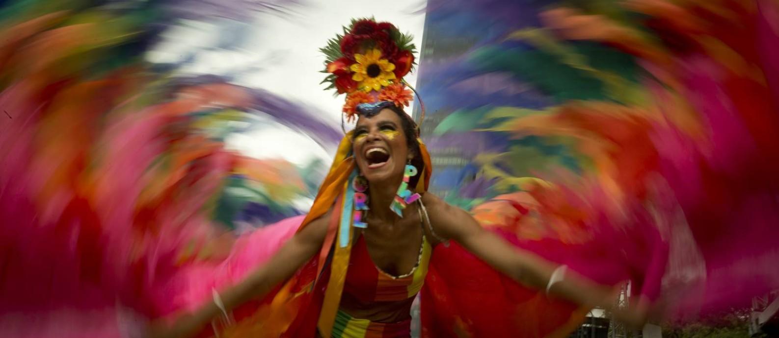 Boitatá, no Rio, em 2019. Na foto, Raquel Poti Foto: Márcia Foletto