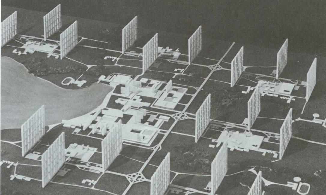 Foto de maquete do projeto do arquiteto Rino Levi para Brasilia Foto: Acervo FAU PUC-Campinas/Divulgação
