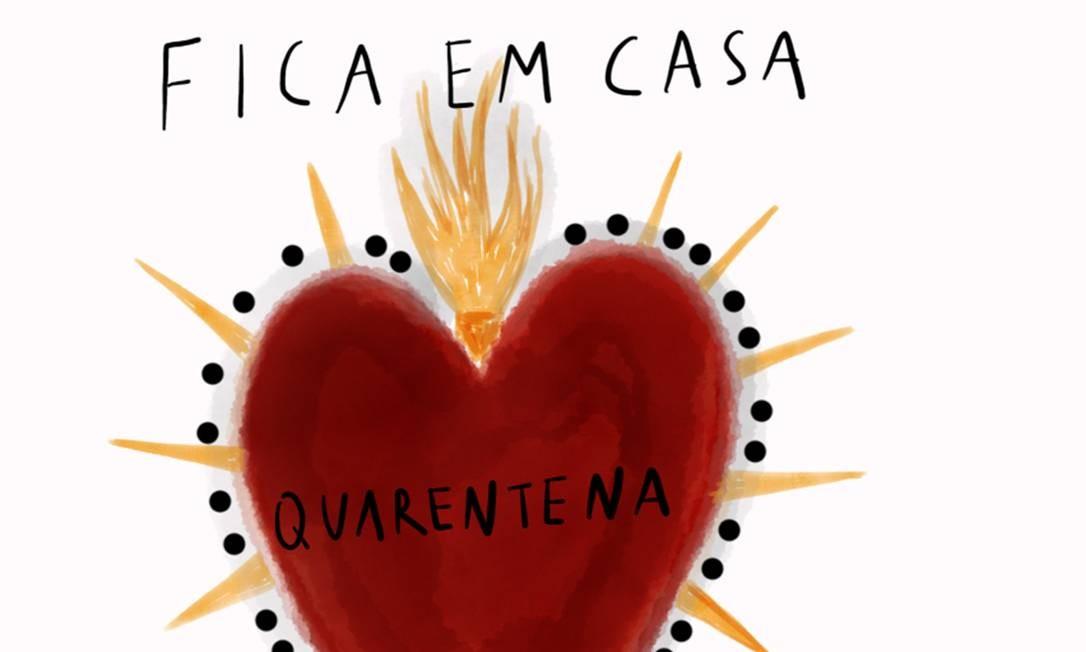 Ilustração de Rita Wainer e Julia Gastin sobre o isolamento social causado pelo coronavirus Foto: Agência O Globo