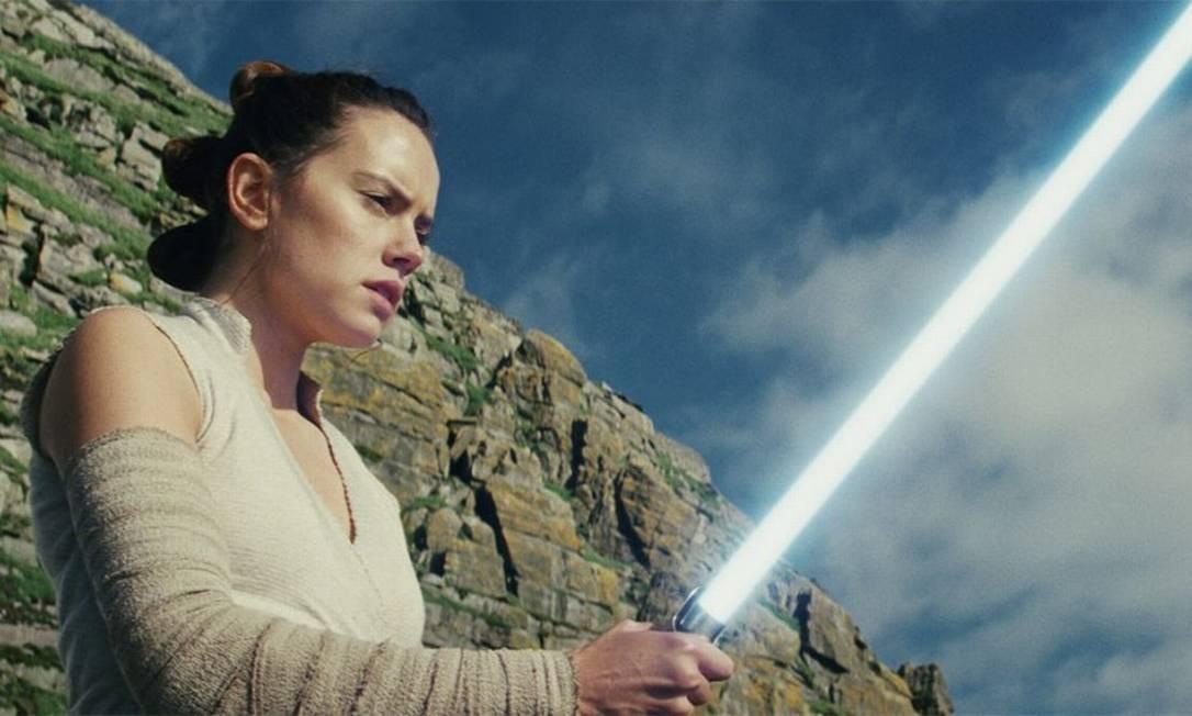 A personagem Rey (Daisy Ridley), em cena da saga 'Star Wars' Foto: Divulgação