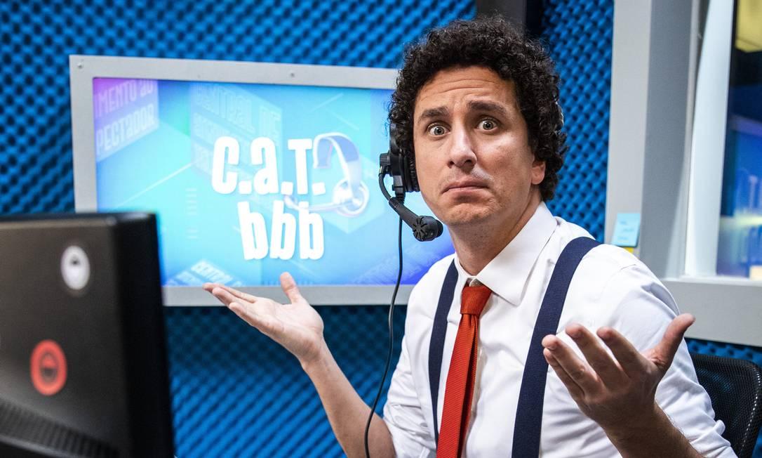 Rafael Portugal, em cena do 'CAT BBB', que divertiu o público do reality show Foto: Victor Pollak
