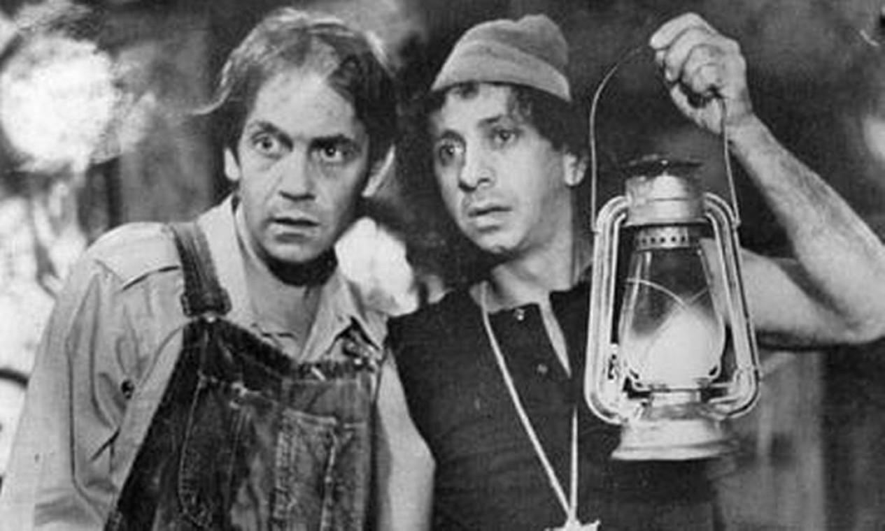 Em 1972, ao lado de Paulo José, no seriado 'Shazan, Xerife & Cia.' Foto: Arquivo O Globo