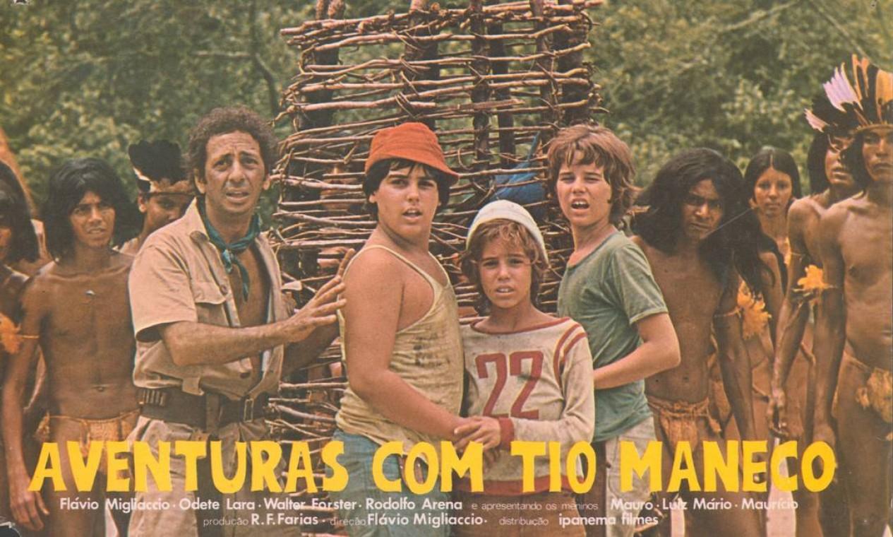 Cartaz do filme 'Aventuras com Tio Maneco', em 1971 Foto: Divulgação