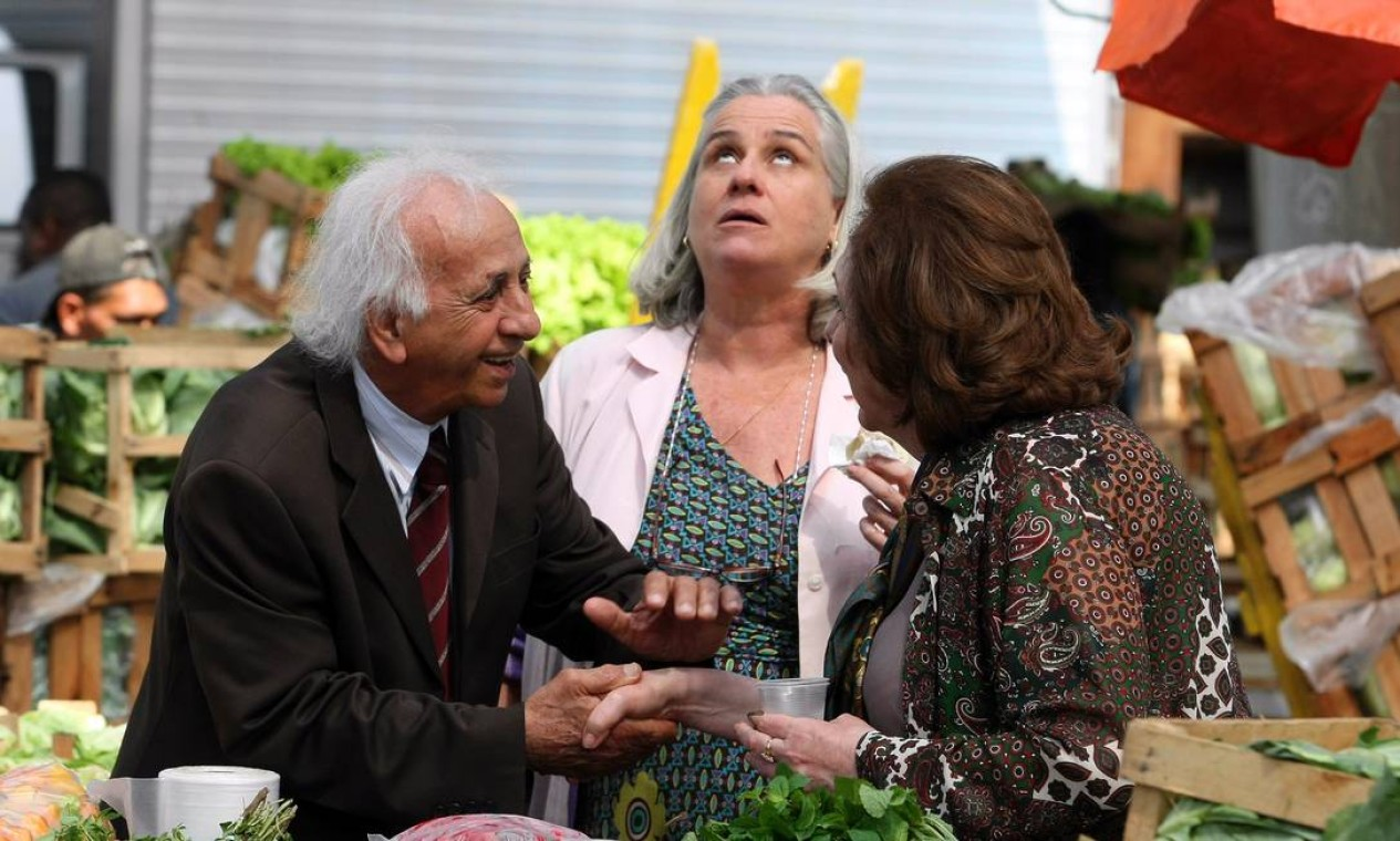 Com Vera Holtz, em 'Passione' (2010), quando viveu o personagem Fortunato Foto: Bruno Gonzalez