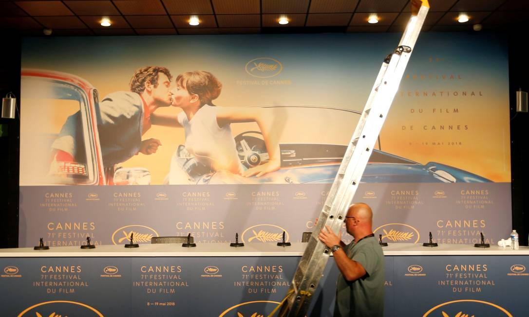 Cannes, só em 2021: organização do festival anunciou definitivamente o cancelamento de sua edição física Foto: Regis Duvignau / Reuters