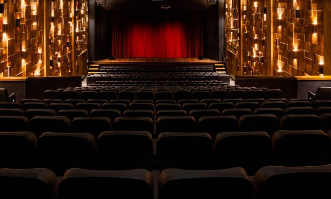 O Teatro XP Investimentos: sala vazia e fechada Foto: Dhani Accioly Borges / Divulgação