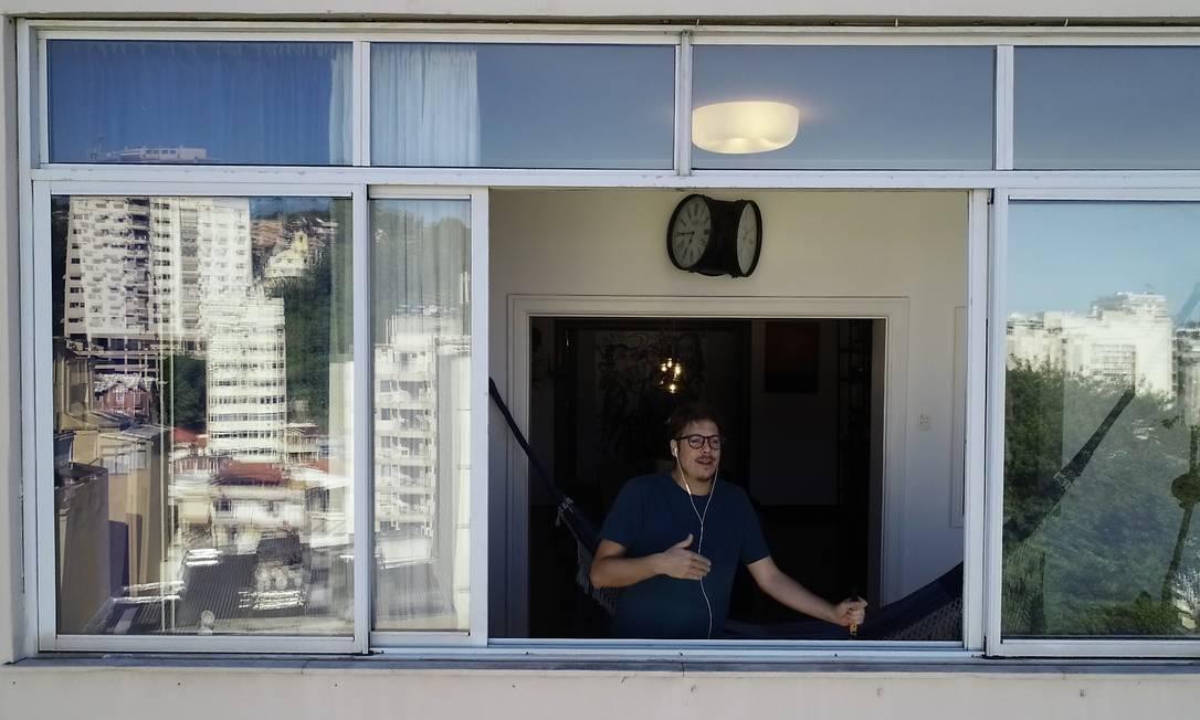 """Fábio Porchat, em sua participação no """"Entrevista na janela"""" Foto: Reprodução"""