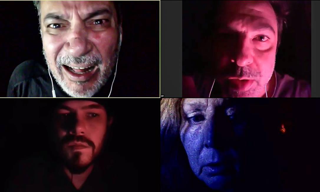 """""""A arte de encarar o medo"""", peça que o grupo Os Satyros encena na plataforma Zoom Foto: André Stefano/Divulgação"""