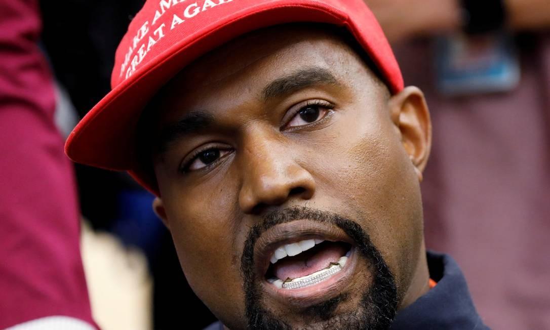 Desde a eleição de Donald Trump, Kanye West deu inúmeras demonstrações de apoio ao presidente dos EUA Foto: Kevin Lamarque / REUTERS