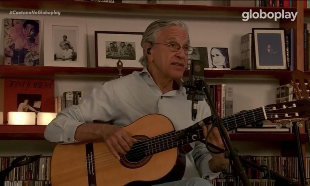 Caetano Veloso completa 78 anos e celebra com aguardada live durante a quarentena Foto: Reprodução
