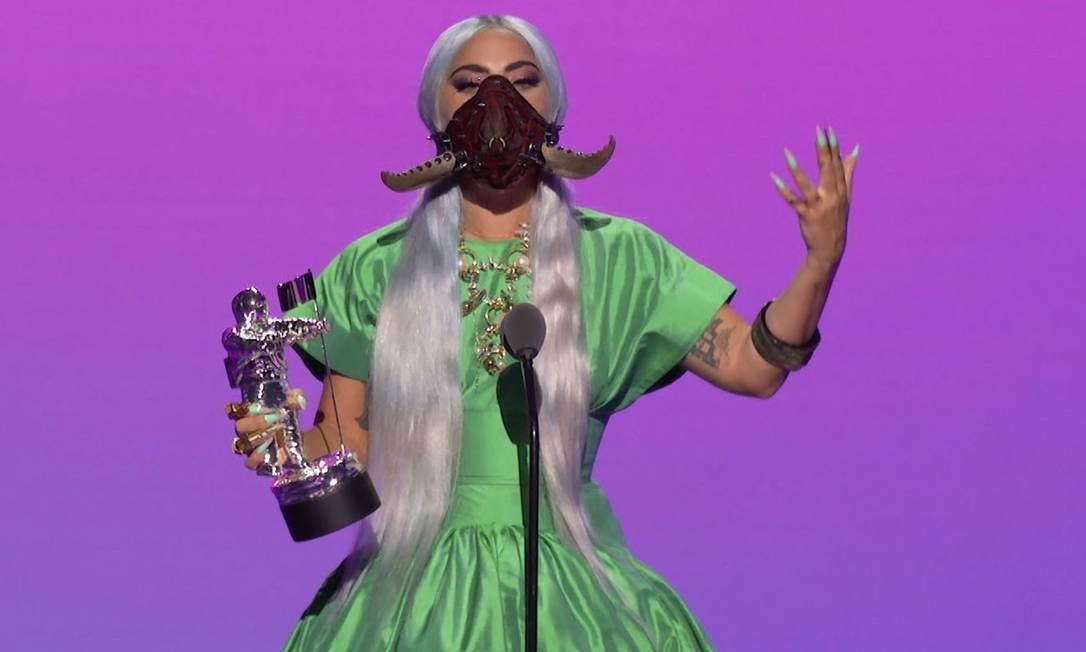 Lady Gaga, no fim de agosto, durante cerimônia do Video Music Awards, da MTV Foto: - / AFP