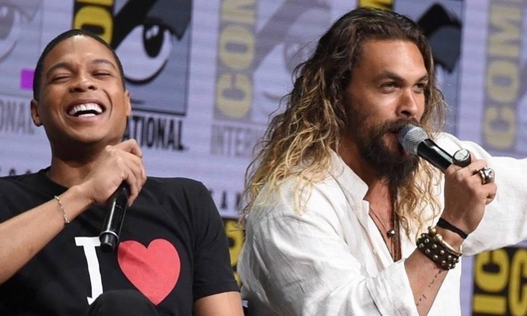 Ray Fisher e Jason Momoa: denúncias do Cyborg ganharam suporte do Aquaman Foto: Reprodução Instagram