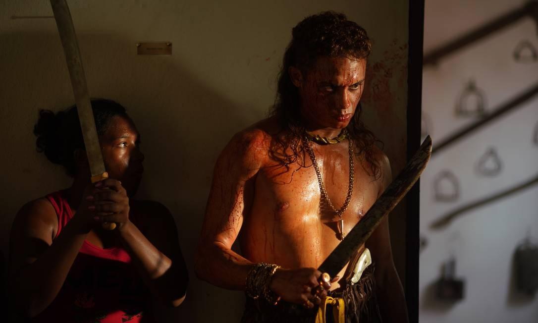 O ator Silvero Pereira, que faz o papel do matador Lunga no filme 'Bacurau', de Kleber Mendonça e Juliano Dornelles Foto: Victor Jucá / Divulgação