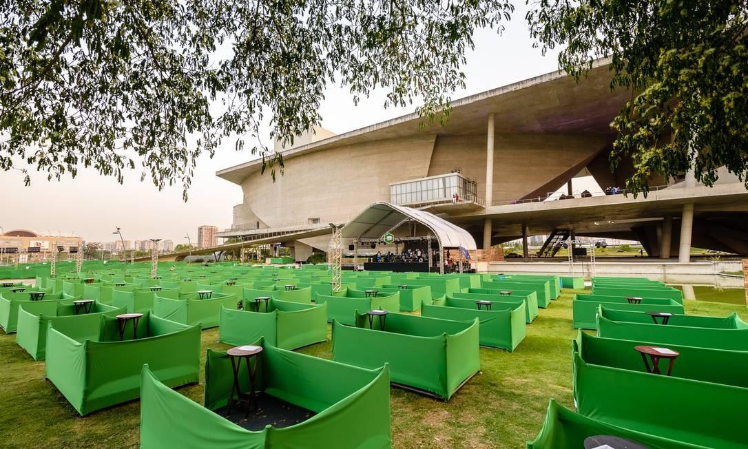 Jardim das Artes, na Cidade das Artes: público é proibido de sair do lounge Foto: Raphael Medeiros Guimaraes / Divulgação