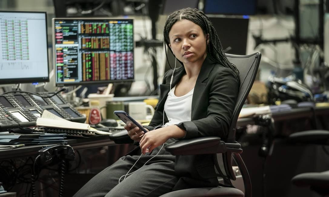 Myha'la Herrold, intérprete de Harper, na série 'Industry': valorização da diversidade de debates na trama Foto: Amanda Searle