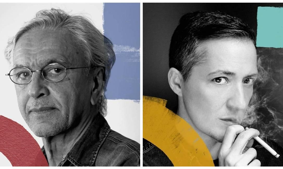 Caetano Veloso e Paul B. Preciado: contato com a obra de filósofo transgênero teria inspirado postagem sobre 'reprodução heterossexual' Foto: Reprodução/Twitter