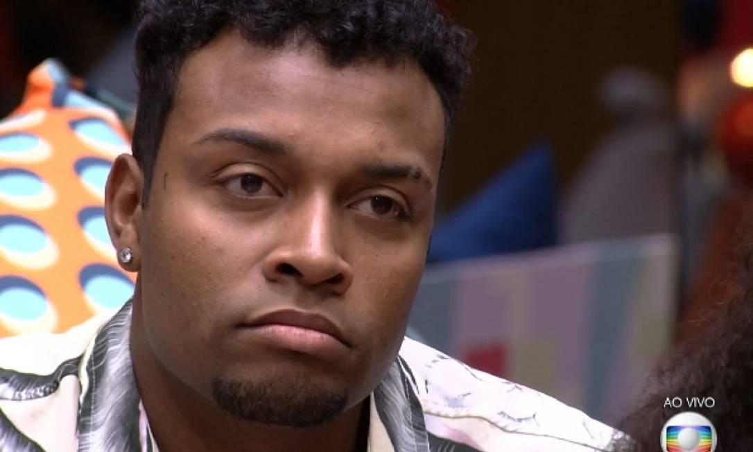 Nego Di, eliminado com mais de 98% dos votos no terceiro paredão do 'BBB 21' Foto: TV Globo / Reprodução