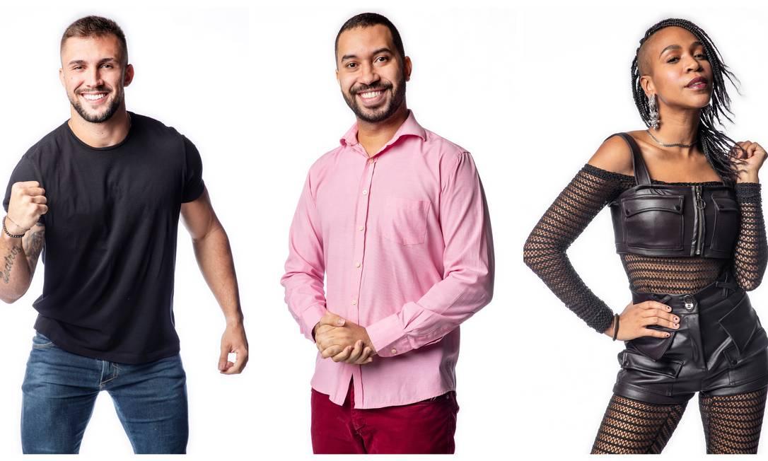 Arthur, Gilberto e Karol Conká: paredão desta semana no 'BBB 21' pode derrubar recordes Foto: TV Globo / Divulgação