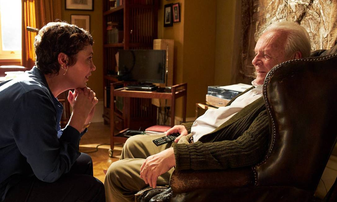 Olivia Colman e Anthony Hopkins estão em 'Meu pai', que recebeu seis indicações Foto: Divulgação