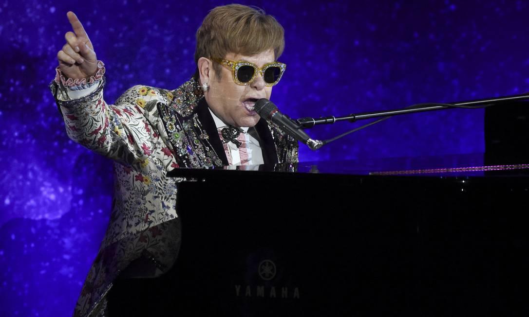 O cantor Elton John Foto: Evan Agostini / Evan Agostini/Invision/AP