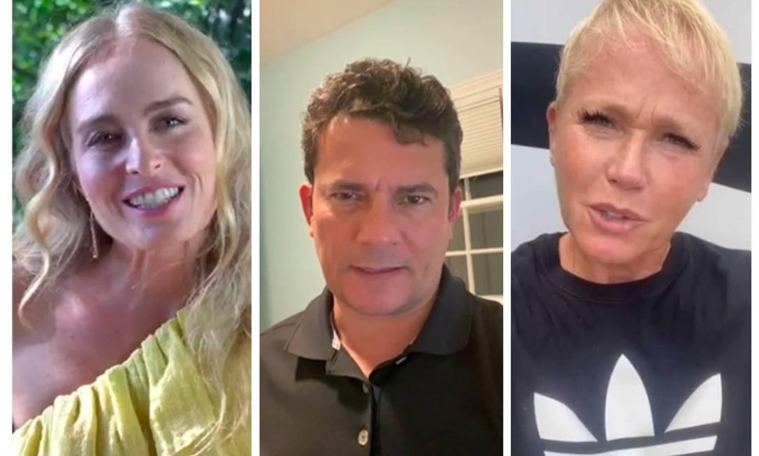 Angélica, Sérgio Moro e Xuxa são alguns dos famosos que enviaram vídeos de apoio às turmas da gincana da Fundação Getúlio Vargas Foto: Reprodução