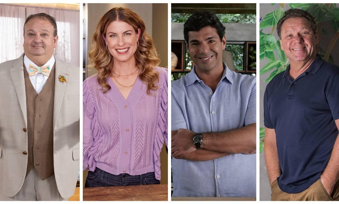 Érick Jacquin, Rita Lobo, Felipe Bronze e Claude Troisgros: representantes da febre de programas culinários na TV e streaming Foto: Divulgação