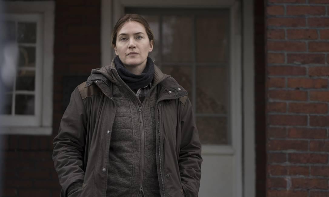 Kate Winslet vive a detetive Mare Sheehan na minissérie 'Mare of Easttown', da HBO Foto: Divulgação