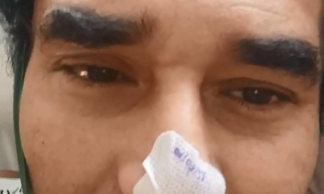 Luciano Szafir grava vídeo em hospital para dizer que está vivo: ator ainda trata complicações da Covid Foto: Reprodução / Instagram